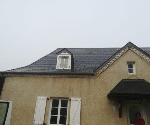 Focus sur le toit en ardoise